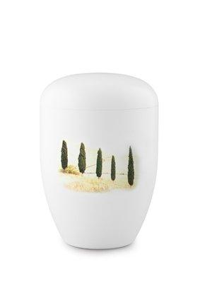 Eco urn wit toscaans landschap - bio