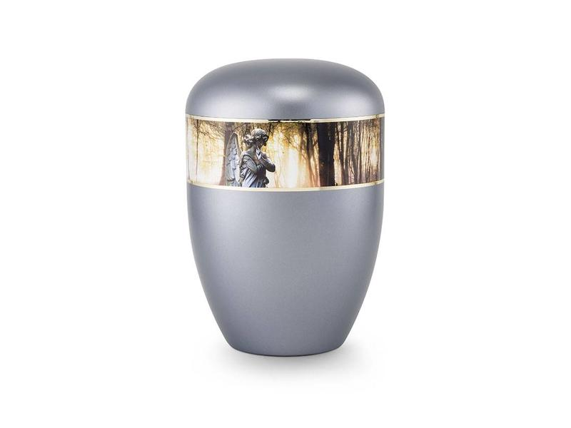 Eco urn grijs engel - bio