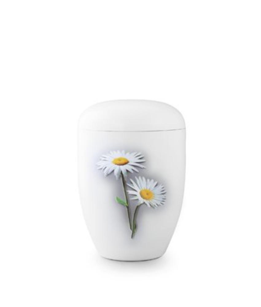 Eco urn wit margrietjes - bio