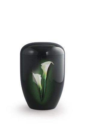 Eco urn zwart met Calla - bio