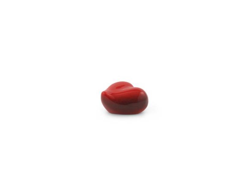 Dieren urn hart gedenk rood klein - keramiek