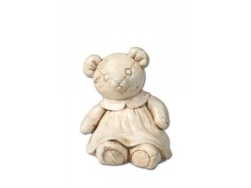 Kinder urn meisjes beer naturel - keramiek