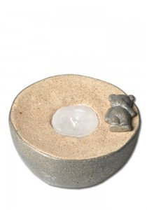 Kinderurn beertje bol met licht 2 - keramiek