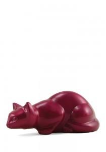 Dieren urn magenta kat rood - messing