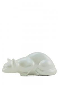Dieren urn pearl kat - messing