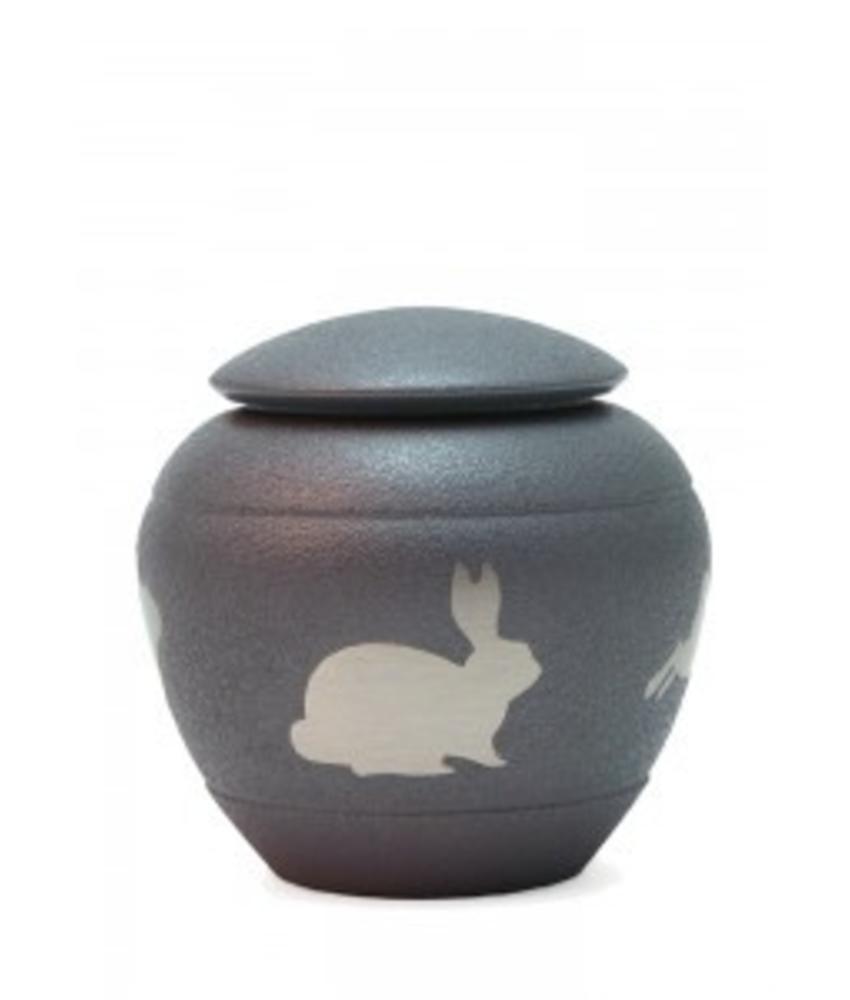 Rabbit dieren urn - koper