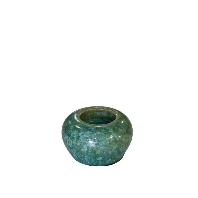 Mini urn jade met licht - keramiek