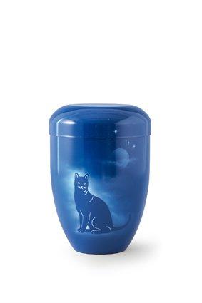 Kattenurn kat bij nacht - aluminium