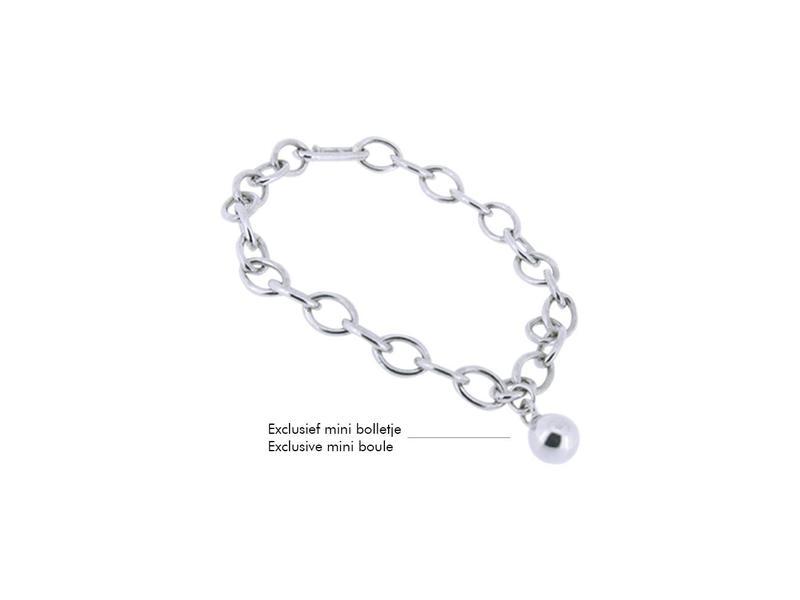 Armband 17 cm - zilver