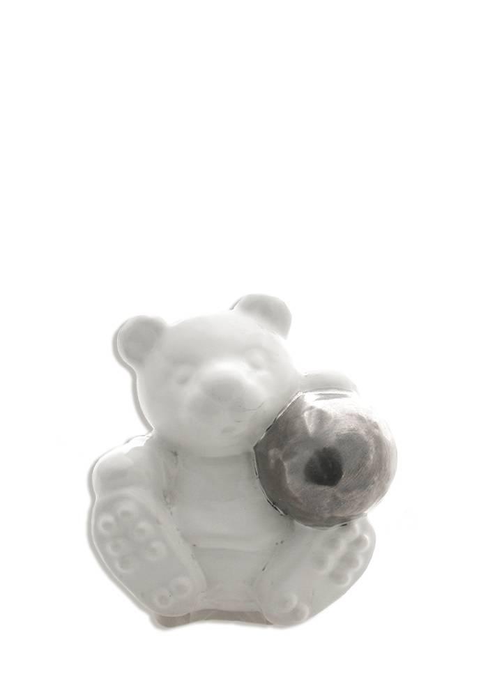 Kinder urn beer wit mini - keramiek
