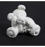 Kinder urn treurige beer wit - keramiek