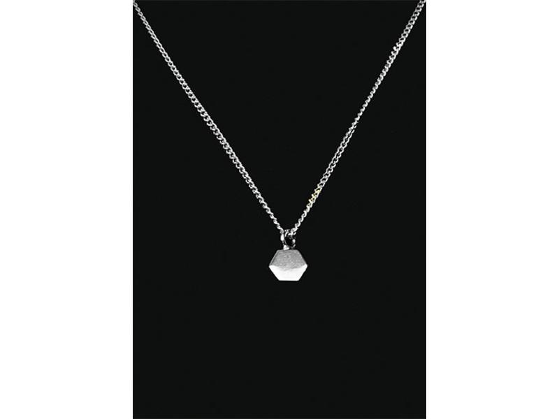 Ascollier zeshoek incl. ketting 50 cm - zilver