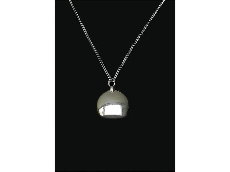 Ascollier fles incl. ketting 50 cm - zilver