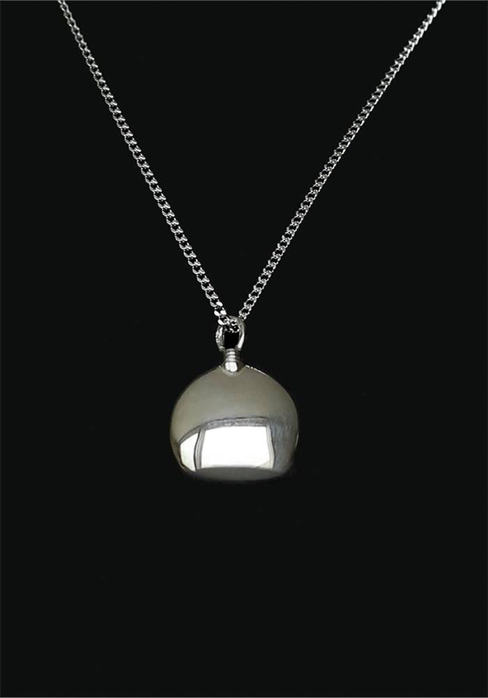 Ascollier fles incl. ketting 50 cm - zilver