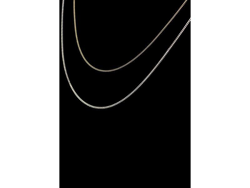 Halsketting 45 cm - zilver