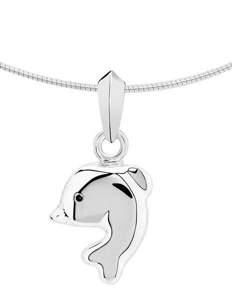 Ashanger dolfijn - zilver