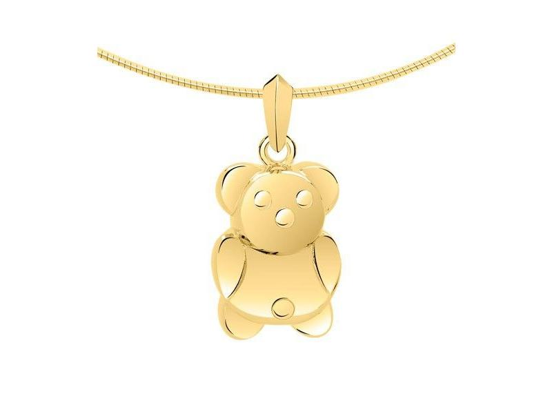 Ashanger teddybeer - goud