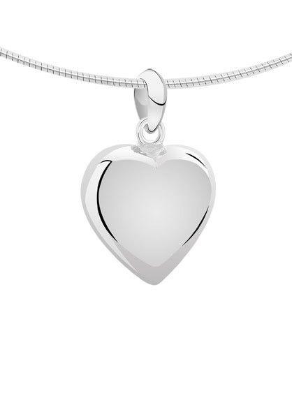 Ashanger hart klein - zilver - Sale