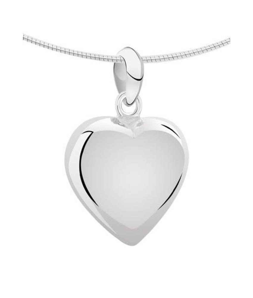 Ashanger hart medium - zilver