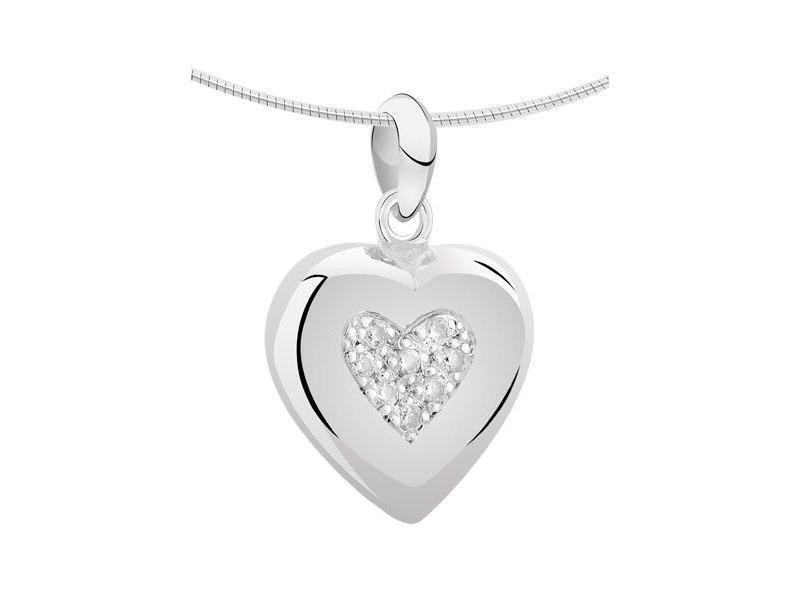 Ashanger hart groot - zilver met zirkonia