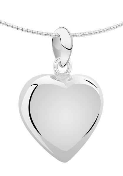 Ashanger hart XL - zilver