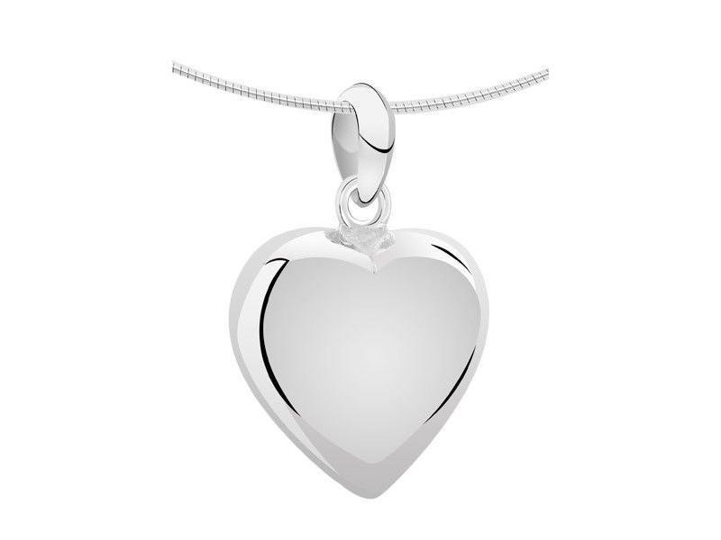 Ashanger hart XXL - zilver