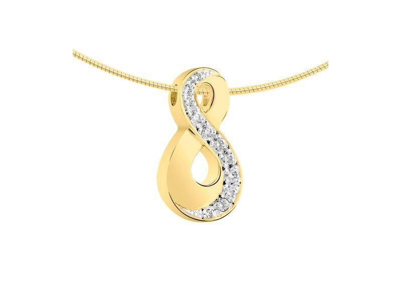 Ashanger infinity - goud met diamant