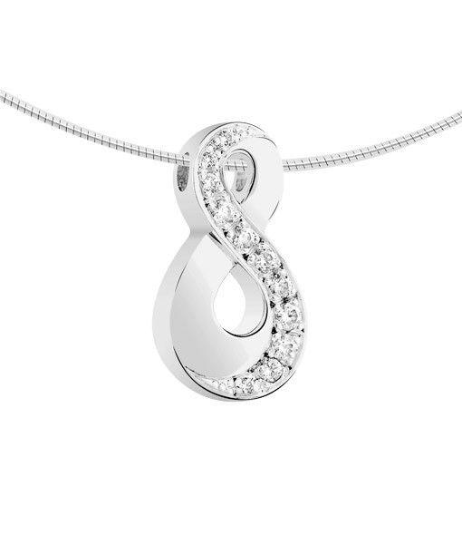 Ashanger infinity - witgoud met diamant