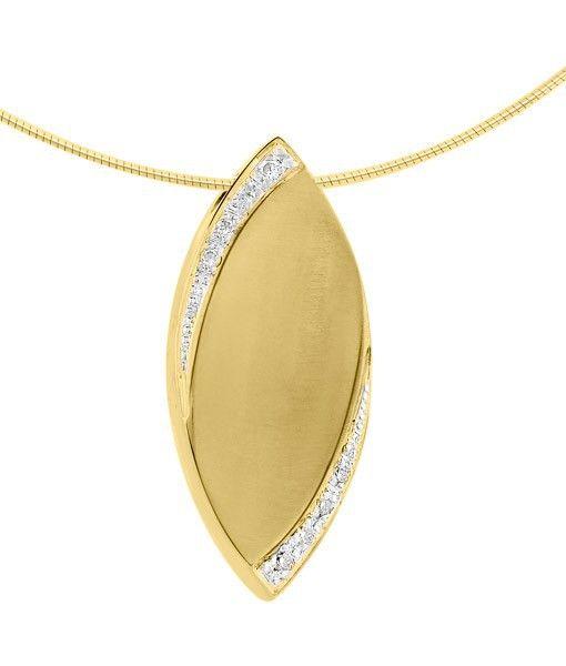 Ashanger ovaal - goud met diamant