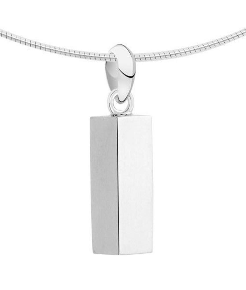 Ashanger asbus vierkant - zilver