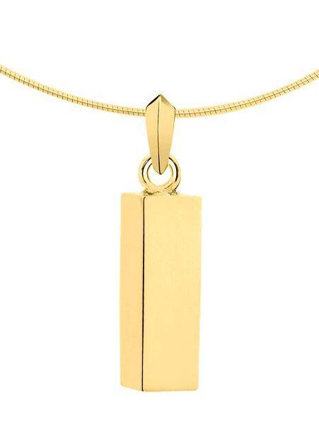 Ashanger asbus vierkant - goud