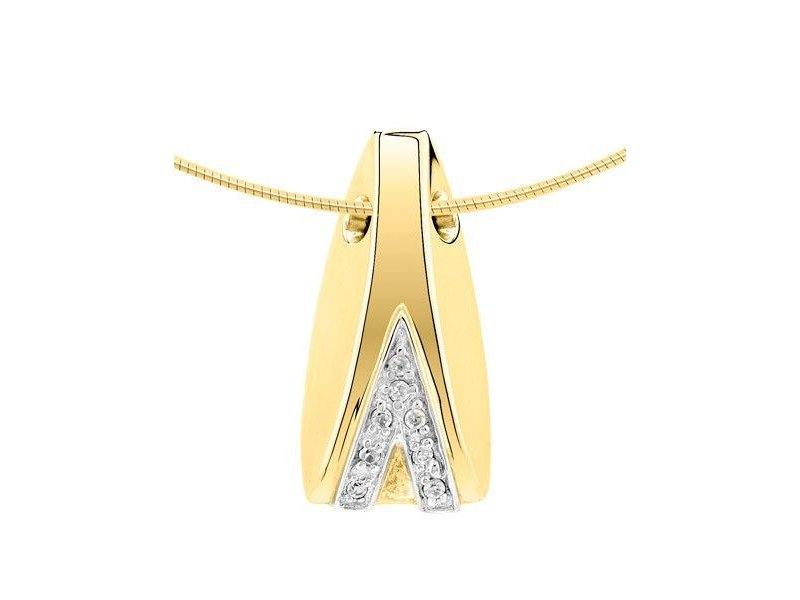 Ashanger fantasie modern - goud met diamant