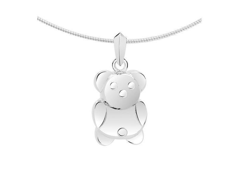 Ashanger teddybeer - zilver