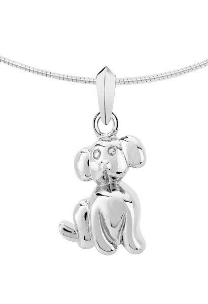 Ashanger hond - zilver