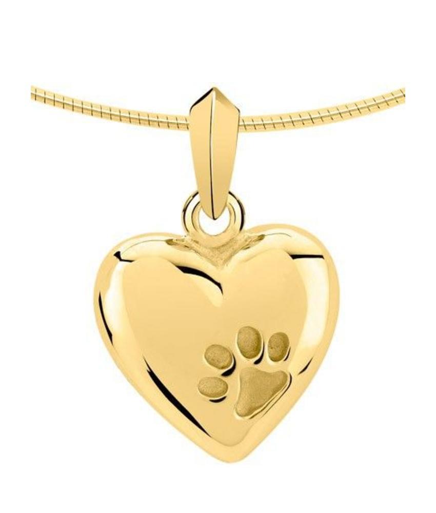 Ashanger hart met pootafdriuk - goud