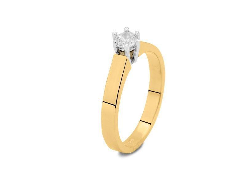 Asring dames traditioneel bicolour - goud met diamant 0.10 crt