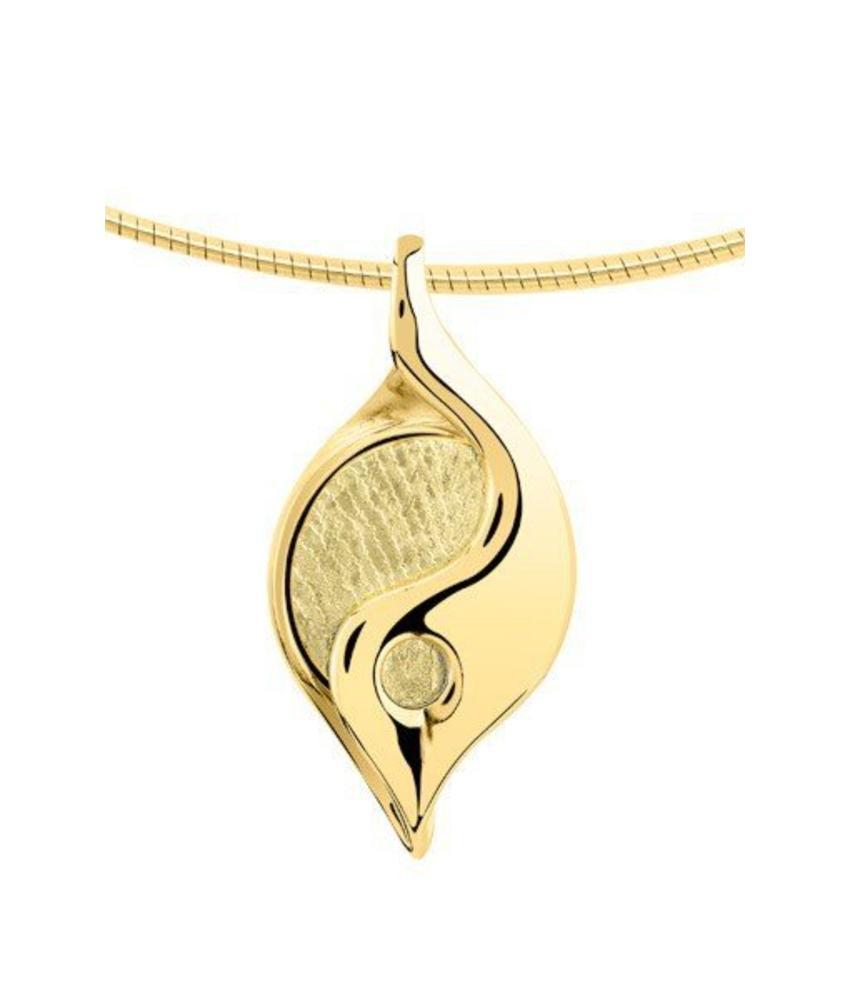 Vingerafdruk hanger elegant - goud