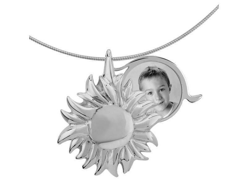 Asmedaillon zon - zilver