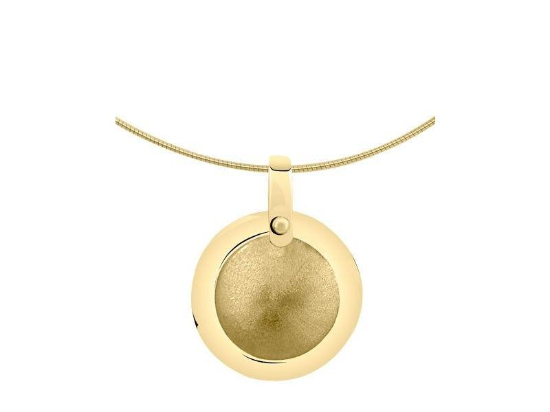 Asmedaillon rond - goud