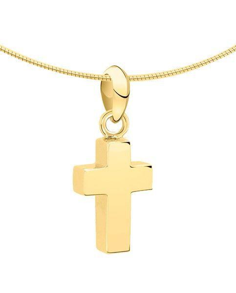 Ashanger kruis klein - goud
