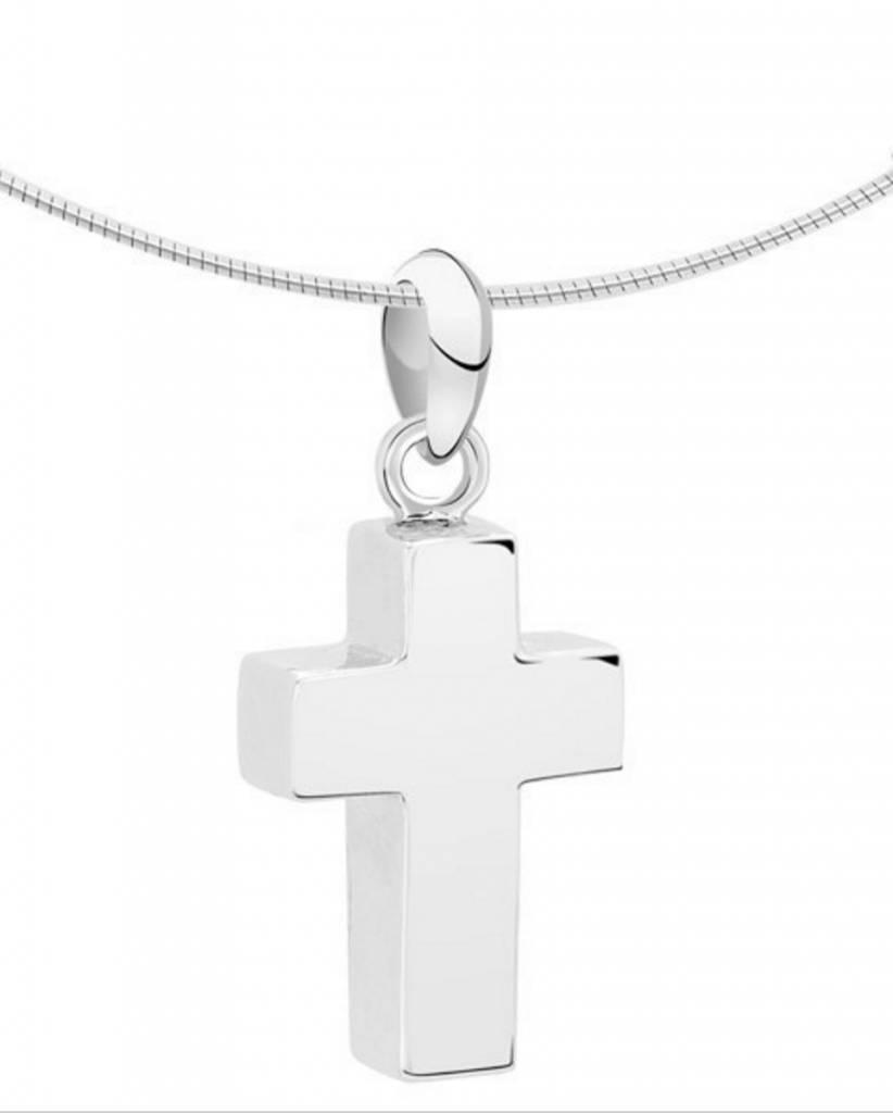 Ashanger kruis klein - zilver