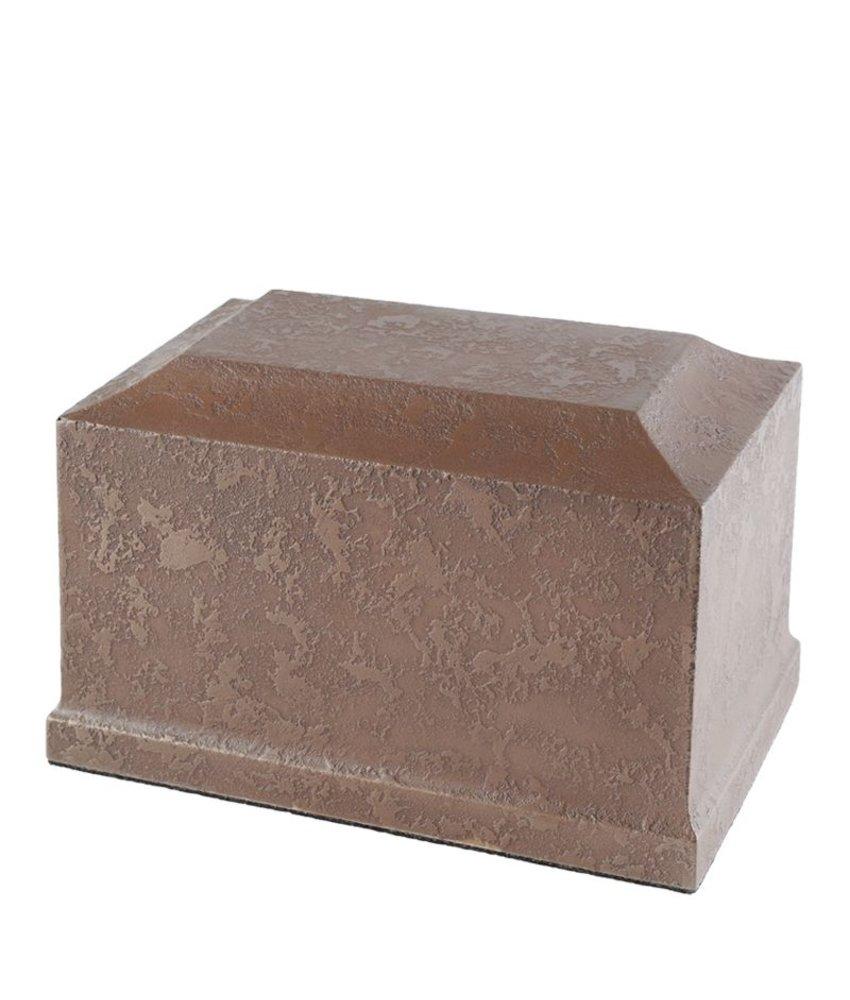 Urn dorchester copper klein - polyresin