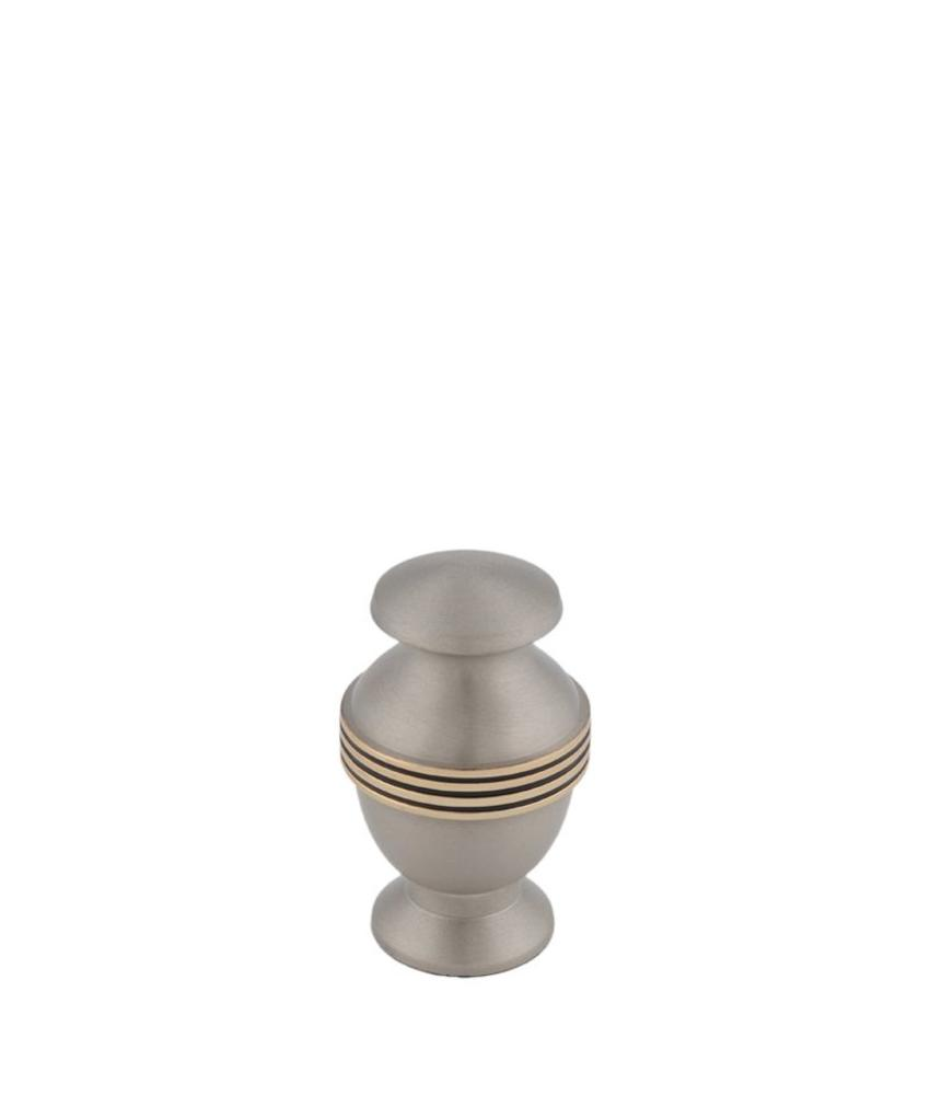 Mini urn elegante platinum - messing