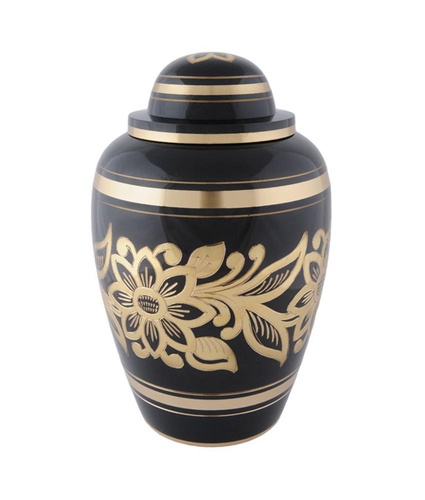 Ebony bouquet urn groot - messing