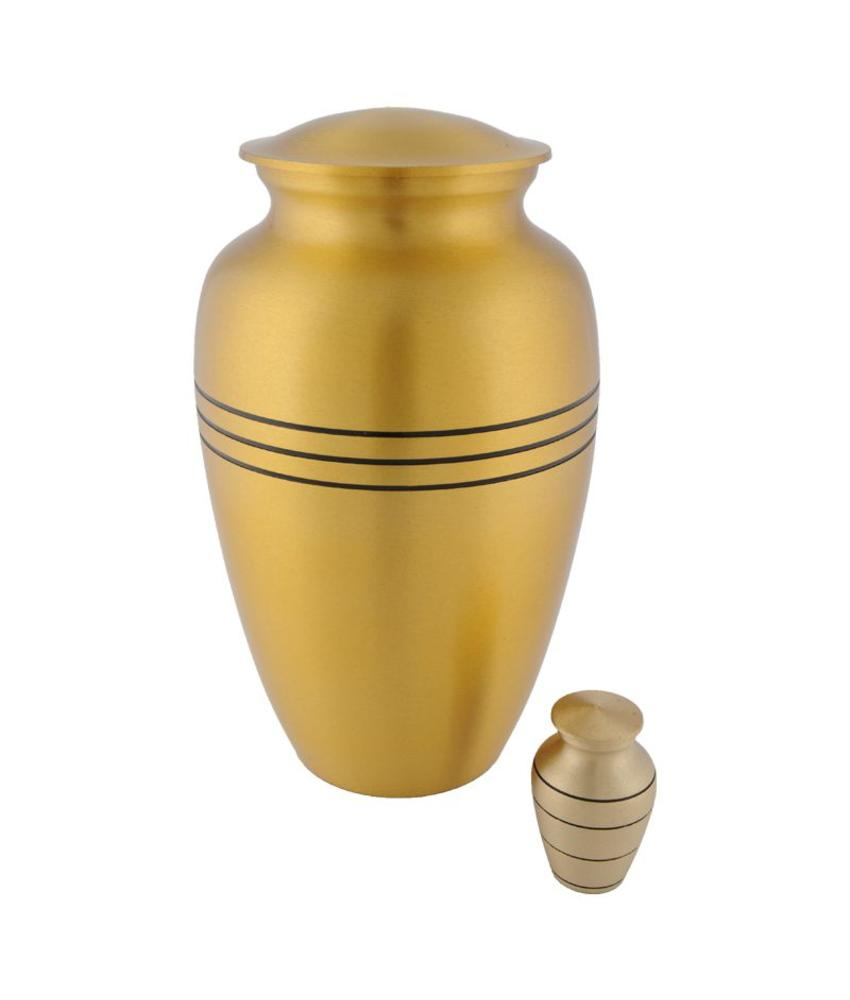 Bronze urn groot - messing