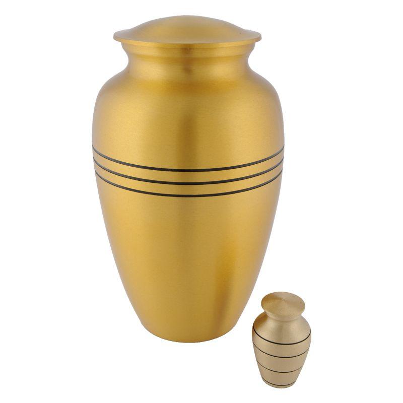 Bronzen urn groot - messing