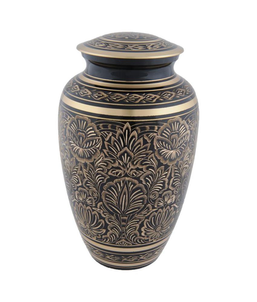 Gee motief urn groot - messing