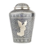 Engel urn groot - messing