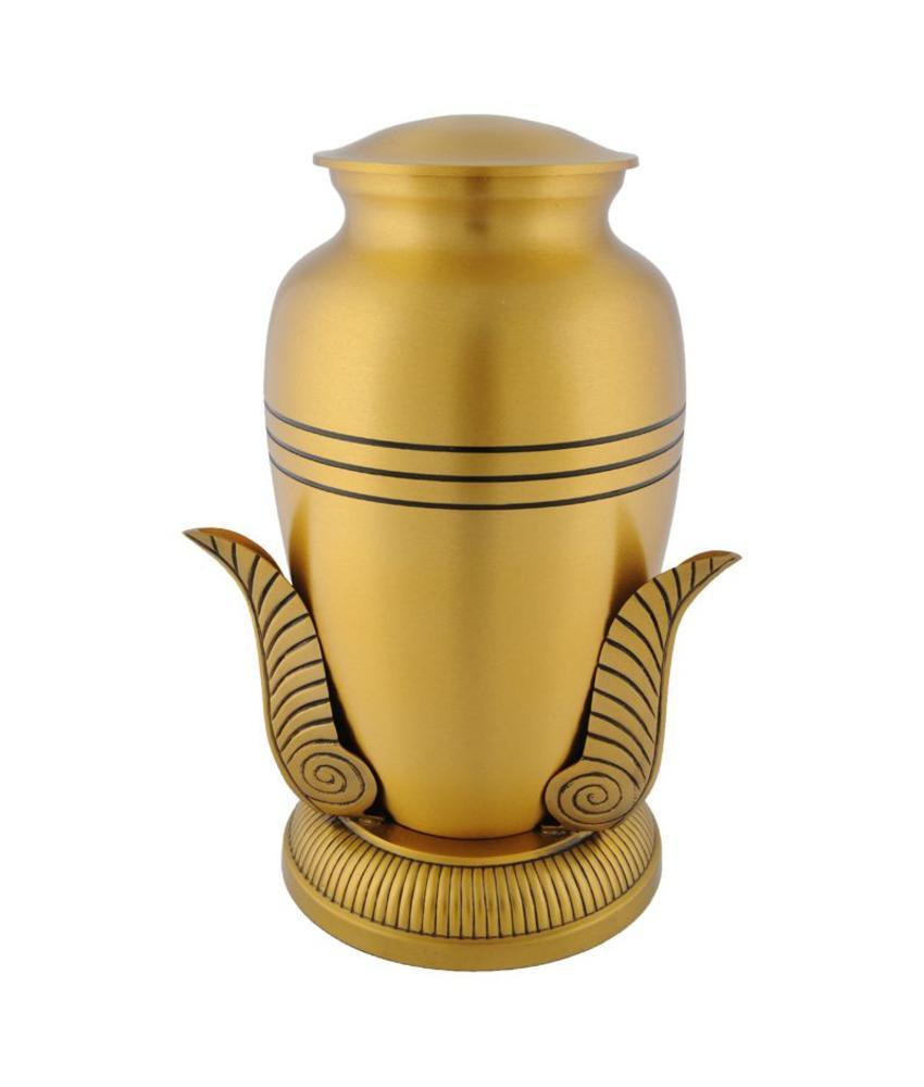 Bronze leaf urn - messing