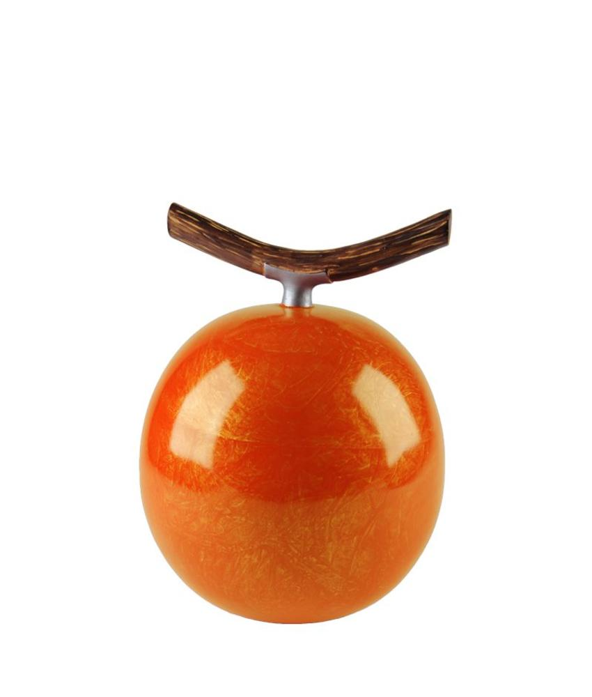Fruitful urn pompoen medium - polyresin